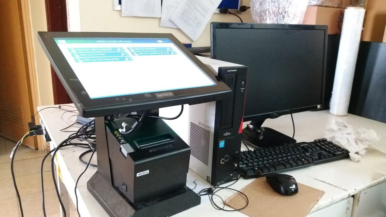 Máy in số thứ tự bằng màn LCD cảm ứng dạng để bàn sử dụng phần mềm VNC-SOFT