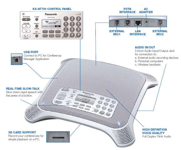 Điện thoại hội nghị Panasonic KX-NT700