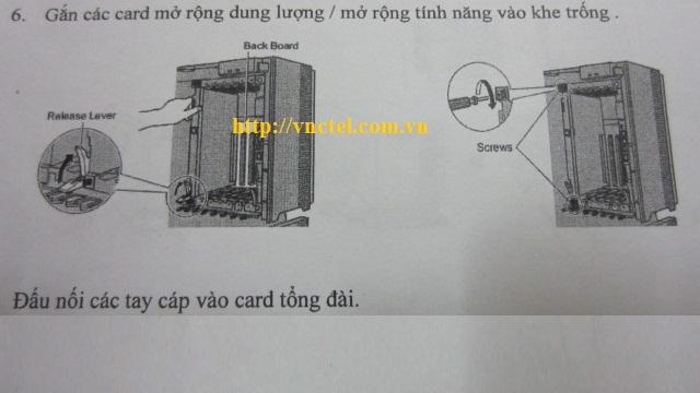 gắn card mở rộng cho tổng đài panasonic kx-tda100d
