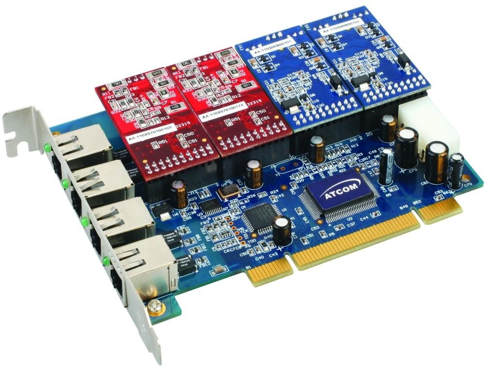 AX400P - Card tổng đài IP asterisk 4 đường vào bưu điện